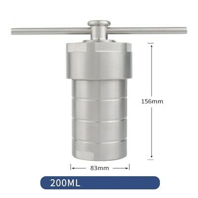 Hydrothermal Synthesis vessel kettle Autoclave Reactor +Teflon Chamber 200ml my#