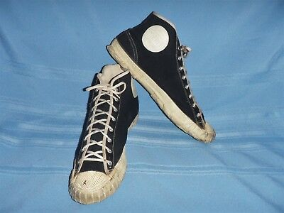 Vintage 1940's-50's Merit Sneakers Pat 11/1/49 Black Size 9 -Mid Century Awesome