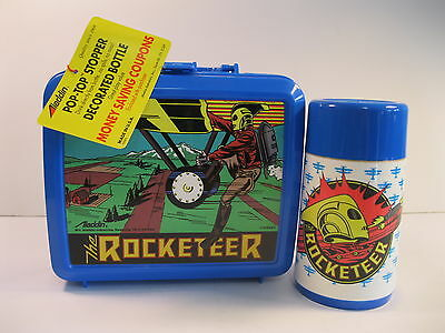 Rocketeer Plastic Lunchbox And Thermos Mint New Complete W/tag And Inserts 1991