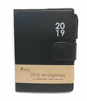 2019 Diary A6  Padded Organiser Week To View With Pen Xmas