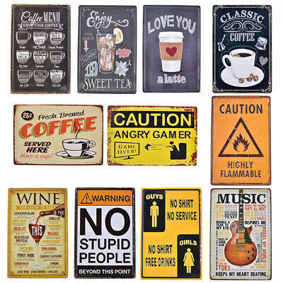 Embossed Vintage Metal Tinplate Sign Plaque Wall Poster Bar Pub Rustic Decor
