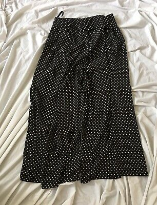 b6ae043bade28 TOPSHOP BLACK SPOT Cropped Trousers Size 10 Unworn - $34.61 | PicClick