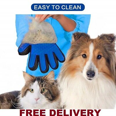 PET Wash Grooming Glove 2-in-1 Hair Remover Brush and Massage DOG CAT HORSE