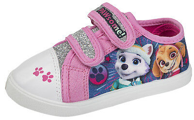 Girls Paw Patrol Glitter Canvas Pumps Toddlers Summer Shoes Plimsolls Trainers