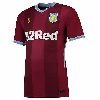 Aston Villa Football Home Jersey Shirt Tee Top 2018 19 Mens