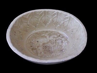 Antique Vintage Stoneware Large Pottery Tropical Fruit Butter Jelly Food Mold