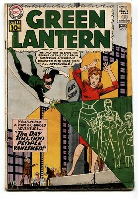 Green Lantern #7 1961-First Sinestro-Key Issue Comic Book