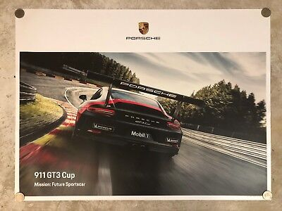 Original 2018 porsche 911 gt3 showroom poster 2657 picclick uk 2018 porsche 911 gt3 cup coupe showroom advertising poster rare awesome l publicscrutiny Choice Image