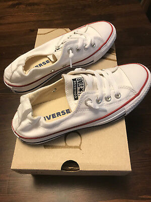 7073f1091c8d WOMEN S CONVERSE All Star CT Shoreline Slip Canvas white 537084F Size 6  (New)