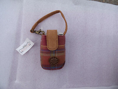 Longaberger Toboso Plaid Cell Phone Wristlet/ Carry Case Free Shipping