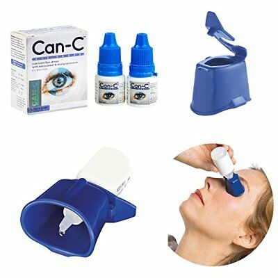 Can-C Eye-Drops Lubricant (2 X 5 ml Vials)  IVP Approved! FREE Auto Drop!