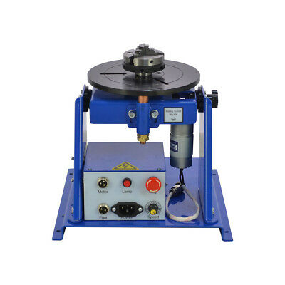 "10KG Table Rotary Welding Positioner Turntable Mini 2.5"" 3 Jaw Lathe Chuck 220V"