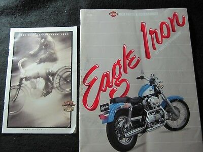 1992  H D Eagle Iron  Parts Catalog,  & 1903 - 1993 Harley Davidson Catolog,