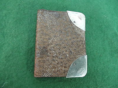 Vintage 1907 Hallmarked Ladies Note Book With Silver Corners