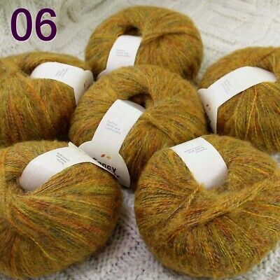 AIP Sale New 2 Skeins X50gr Mohair Angora Cashmere Wrap Shawls Hand Knit Yarn 38