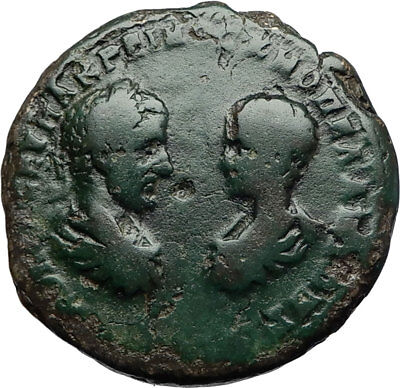 MACRINUS & DIADUMENIAN Authentic Ancient Marcianopolis Roman Coin HOMONIA i71057