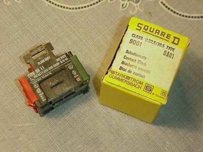 Square D 9001 DA01 Class 9001 - DA01 Contact Block NEW IN BOX!