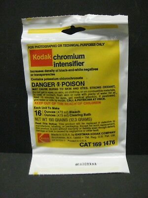 Kodak Chromium Intensifier to make 1 pint new old stock Brand New
