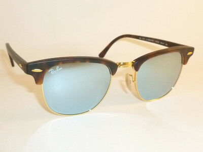 6306ff5954 New RAY BAN Clubmaster Matte Tortoise RB 3016 1145 30 Silver Mirror Lenses  49mm