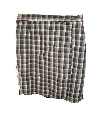ee56fd4ac9baf WHITE STAG BROWN and Black Check Skirt Women s SIze Medium 100 ...