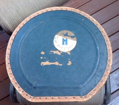 Vintage Carrying Case American Airlines 1st Class Sticker Black Brown W/Handle