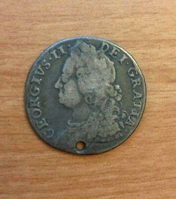 Great Britain Shilling 1758 Holed
