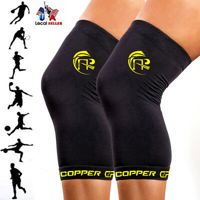 CFR Copper Infused Knee Support Compression Anti-slip Sleeve Patella Brace Wrap