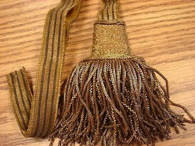 "Original WW1 AUSTRIAN Army Officers Heavy Gold-Fringed ""KARL"" Sword Knot"