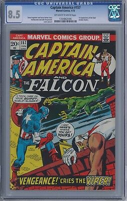Captain America #157 CGC 8.5 off white to white pages-1st appearance of Viper