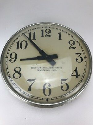 Antique Electric School Wall Clock Standard Electric Time Company