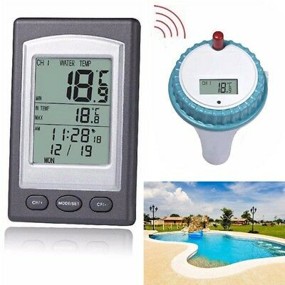 Wireless Floating Swimming Pool Thermometer Spa Pond Water Temperature Guage DE