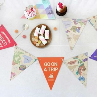 Hot World Map Paper Flags Garland Bunting Banner Party Decoration Celebration 6L