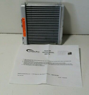 Fits Vehicles Listed on Chart Below New Ready-Aire 398214 HVAC Heater Core