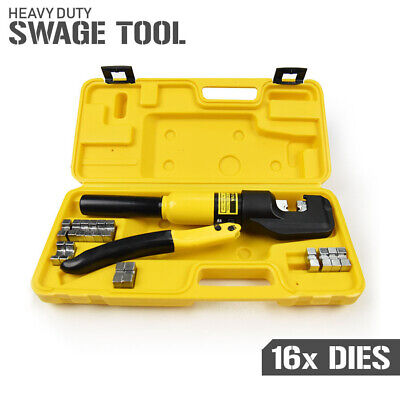 Hydraulic Swage Tool Kit - Hand Swaging Crimping Press for Stainless Steel Wire