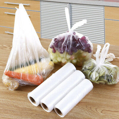 100PCS Food Storage Bags Freezer Vest Pouches Fruits Vegetables Keep Fresh S/M/L
