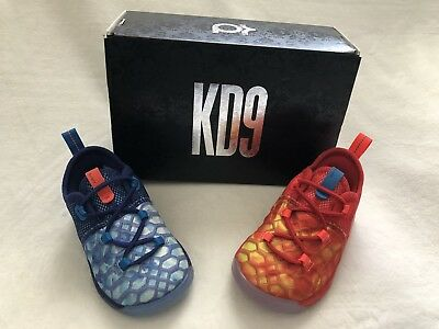 93ca657abdd NIKE BOYS KD9 Blue Lace-Up Basketball Shoes 12 Medium (D) Little Kid ...
