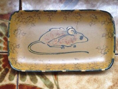Honiton Pottery Mouse Pattern Pin Tray / Dish Retro