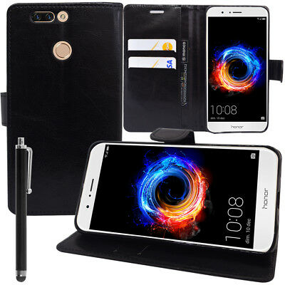 """Etui Coque Housse NOIR Portefeuille Huawei Honor 8 Pro 5.7""""/ honor V9 + Stylet"""