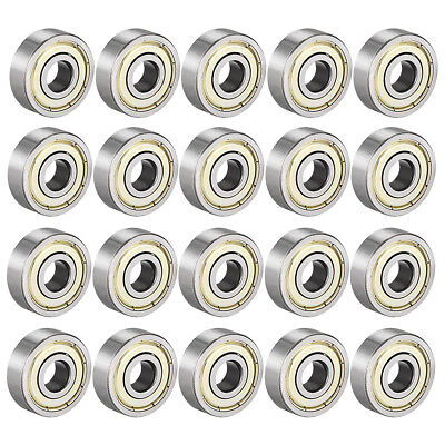 Deep Groove Ball Bearing 628ZZ Double Shield, 8 x 24 x 8mm Carbon Steel , 20pcs