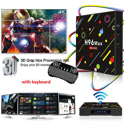 H96 PRO PLUS 64 GB TV Box verbesserte Android TV Firmware Sky GO