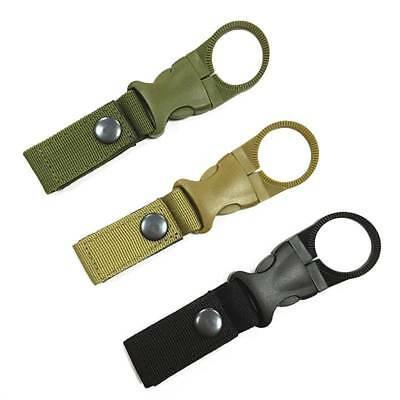 Tactical Nylon Webbing Buckle Hook Water Bottle Holder Clip Carabiner Outdoor
