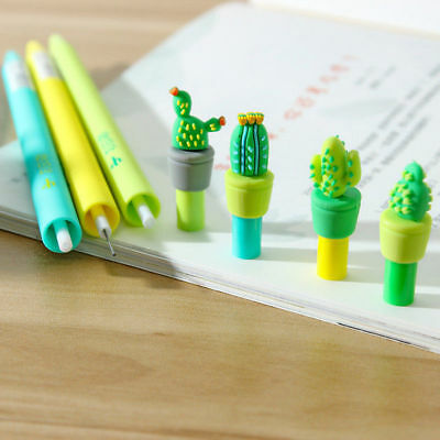 1x 0.5mm Cute Cactus Plastic Mechanical Pencil Automatic Pen Stationery Student