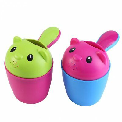 Baby Kid Child Shampoo Rinser Cup Shower Bath Wash Hair Eye Water Spoon Bailer