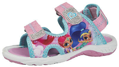 Shimmer and Shine Sports Sandals Glitter Genie Summer Beach Shoes Kids Size