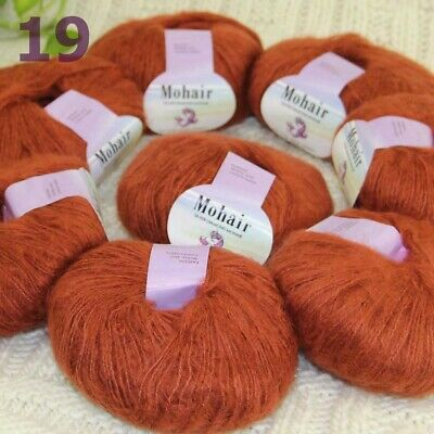 AIP Sale New 5 Skeins X 50g Mohair Angora Cashmere Wrap Shawls Hand Knit Yarn 07