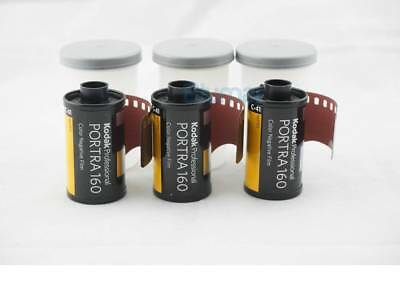 3 x KODAK PORTRA 160 ISO 160 35mm COLOR NEGATIVE FILM FRESH Fast Shipping