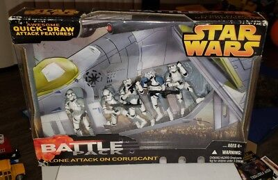 Star Wars Battle Pack CLONE ATTACK ON CORUSCANT Hasbro