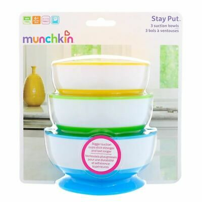Munchkin Stay Put Suction Bowls 1 2 3 6 12 Packs