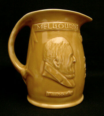Signed Hoffman Australian Pottery Melbourne Centenary Large Sized Jug Melrose