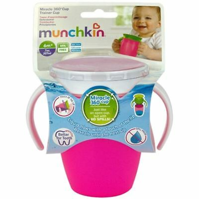 Munchkin Miracle 360 ??Trainer Cup Rosa 207ml 1 2 3 6 12 Packungen